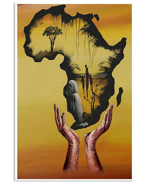 African - Black Art - Remember Your Root Vertical Canvas And Poster | Wall Decor Visual Art