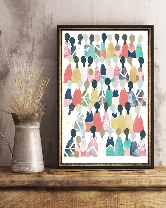 African - Black Art - People Of Colors Vertical Canvas And Poster | Wall Decor Visual Art