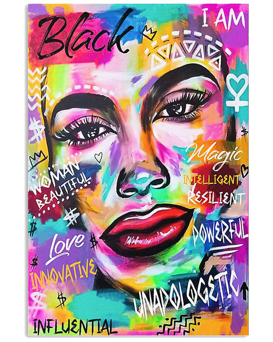 African - Black Art - Black Queen Portrait Vertical Canvas And Poster | Wall Decor Visual Art