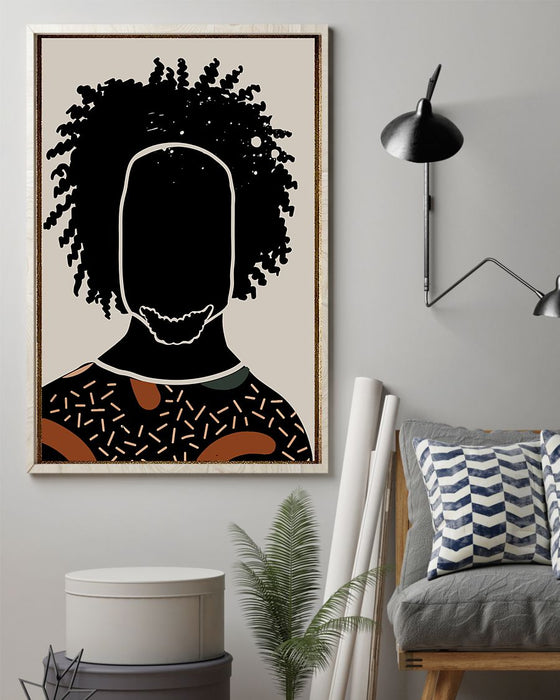 African - Black Art - Black Boy Vertical Canvas And Poster | Wall Decor Visual Art
