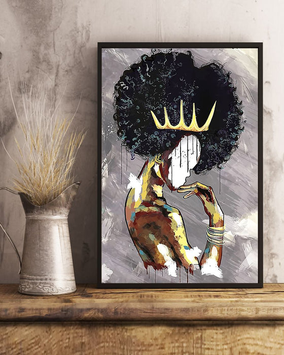 African - Black Art - Black Girl Magic 260802 Vertical Canvas And Poster | Wall Decor Visual Art