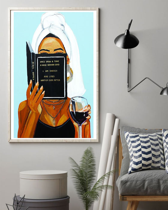 African - Black Art - Black Woman With Inspirational Quote - Black Art Vertical Canvas And Poster | Wall Decor Visual Art