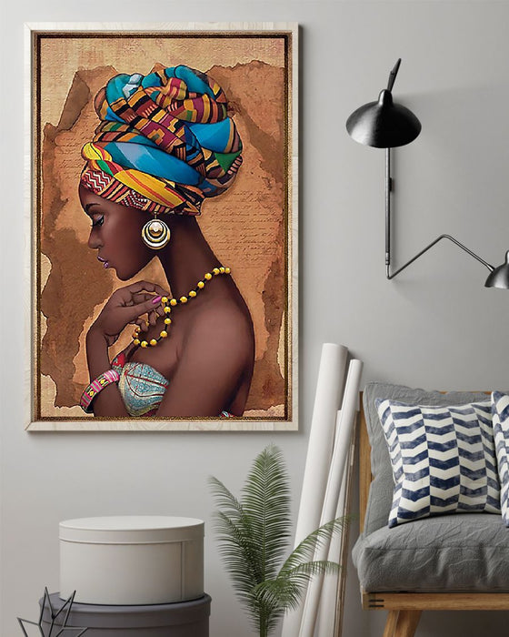 African - Black Art - African Culture Vertical Canvas And Poster | Wall Decor Visual Art