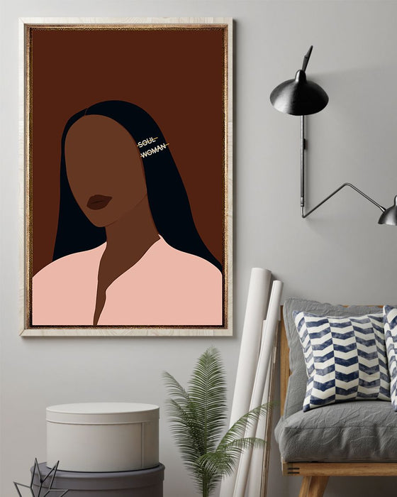 African - Black Art - Soul Woman Vertical Canvas And Poster | Wall Decor Visual Art