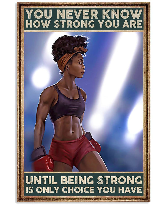 African - Black Art - Black Girl Strong Vertical Canvas And Poster | Wall Decor Visual Art