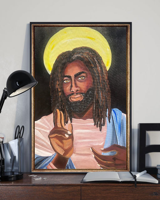 African - Black Art - Black Jesus Vertical Canvas And Poster | Wall Decor Visual Art