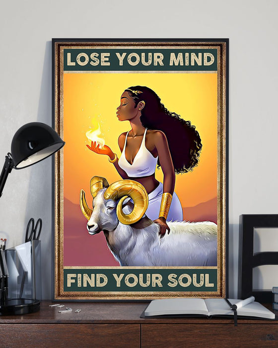 African - Black Art - Lose Your Mind Find Your Soul Vertical Canvas And Poster | Wall Decor Visual Art