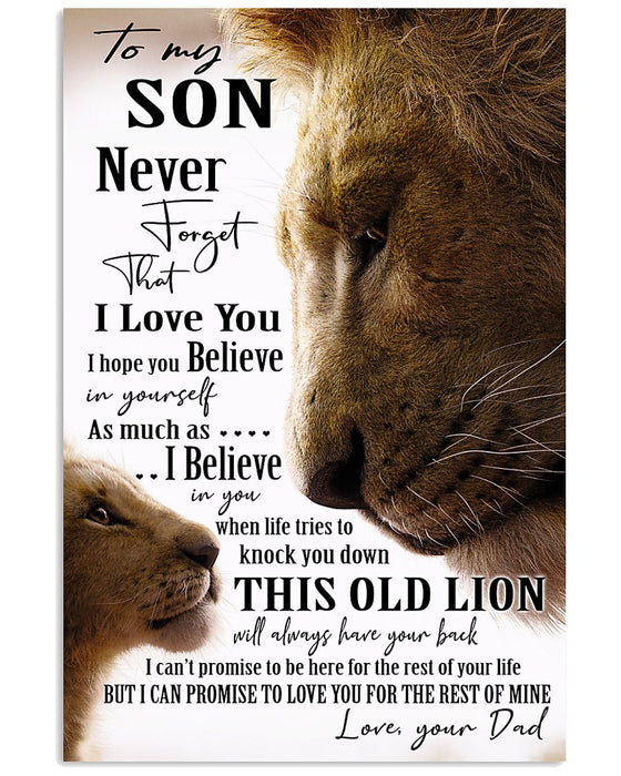This Old Lion - Gift For Son From Dad Vertical Canvas And Poster | Wall Decor Visual Art