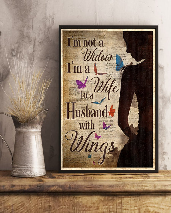 Memorial Gift To Heaven - Im Not A Widow Vertical Canvas And Poster | Wall Decor Visual Art