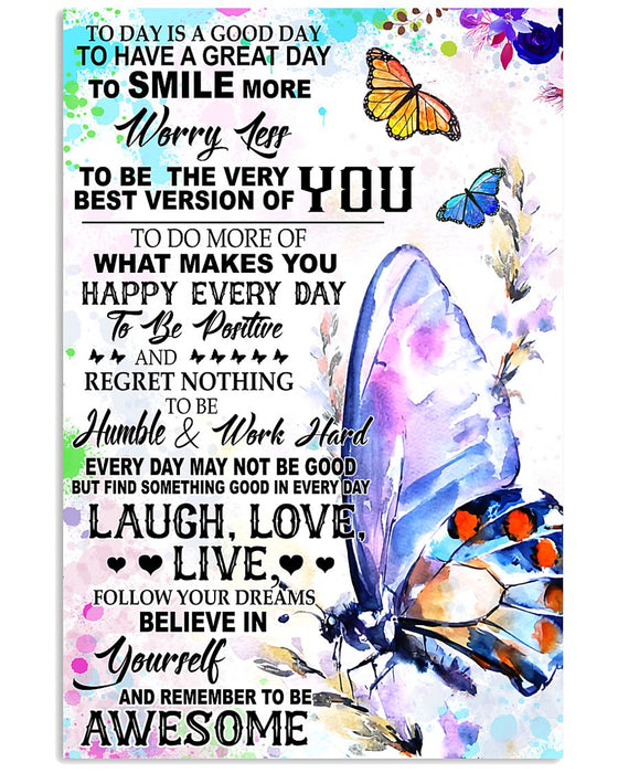 Memorial Gift To Heaven - Today Is A Good Day Vertical Canvas And Poster | Wall Decor Visual Art