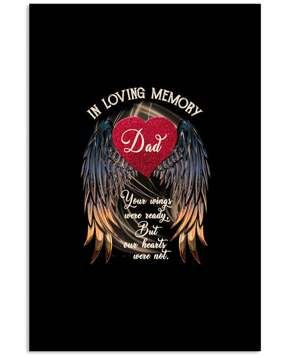Memorial Gift To Heaven - In Loving Memory Vertical Canvas And Poster | Wall Decor Visual Art