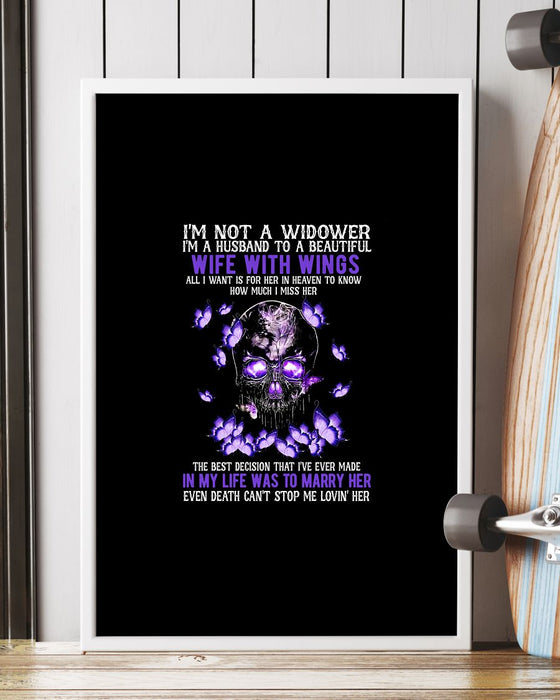 Memorial Gift To Heaven - Im Not A Widower Vertical Canvas And Poster | Wall Decor Visual Art