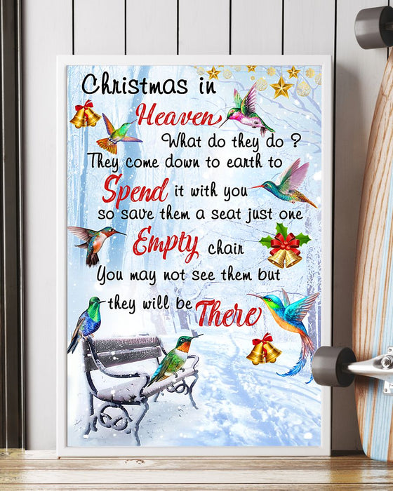 Memorial Gift To Heaven - Christmas In Heaven Vertical Canvas And Poster | Wall Decor Visual Art