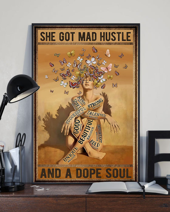 Memorial Gift To Heaven - She Got Mad Hustle Vertical Canvas And Poster | Wall Decor Visual Art