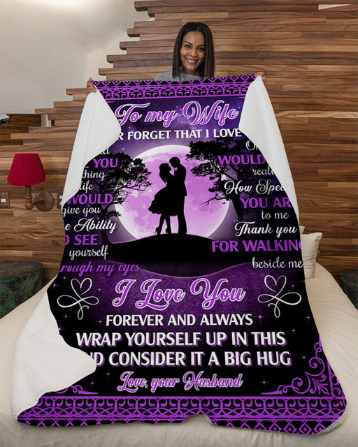 Couple To My Wife Never Forget I Love U-Ur Husband Fleece Blanket