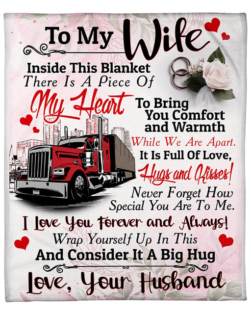 Trucker's Wife - Black Friday Sale Fleece Blanket
