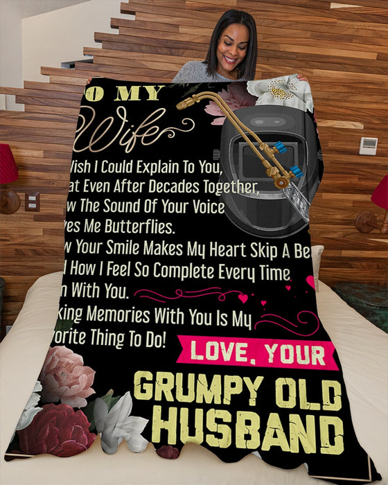 Welder's Wife Premium Fleece Blanket