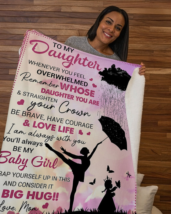 Dance Queen Whenever You Feel -Mom To Daughter Sherpa Fleece Blanket