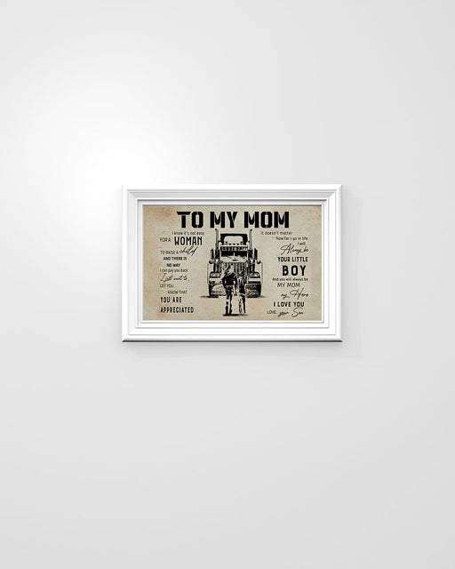 Truck Print, Son To Mom Horizontal Canvas And Poster - Gift For Mom | Wall Decor Visual Art