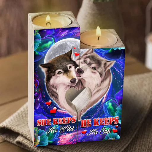 Wolf Love She Keeps Me Wild, He Keeps Me Safe Heart Candle Holder Valentine Gift For Couple, Anniversary Gift For Couple, Birthday Gift For Couple  1611892584365.jpg