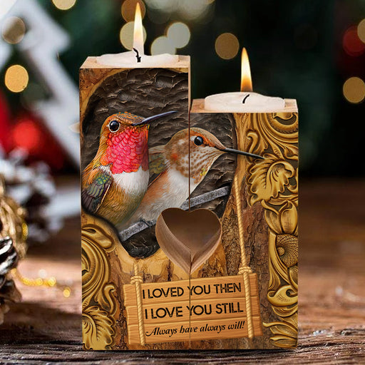 Hummingbird Couple I Loved You Then I Love You Still Heart Candle Holder Valentine Gift For Couple, Anniversary Gift For Couple  1611892584548.jpg