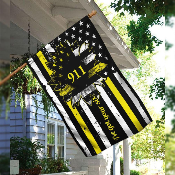 911 Dispatcher Flag | Garden Flag | Double Sided House Flag - GIFTCUSTOM