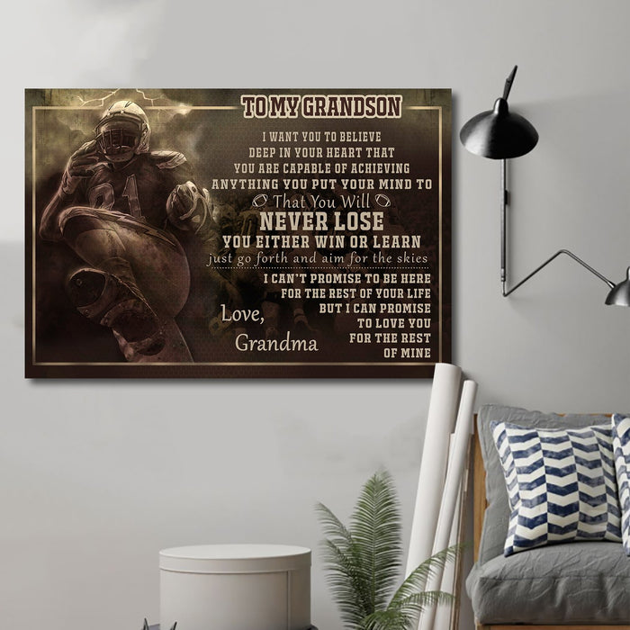 AF Canvas and Poster Gma to Gson Never Lose Black version wall decor visual art - GIFTCUSTOM