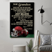 American football Canvas and Poster ��� Grandma to Grandson ��� Never feel that wall decor visual art - GIFTCUSTOM
