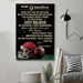 American football Canvas and Poster ��� Grandpa to Grandson ��� Never feel that wall decor visual art - GIFTCUSTOM