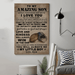 American football Canvas and Poster ��� Mom to Son ��� always remember wall decor visual art - GIFTCUSTOM