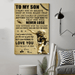 American football Canvas and Poster ��� Mom to Son ��� Never lose wall decor visual art - GIFTCUSTOM