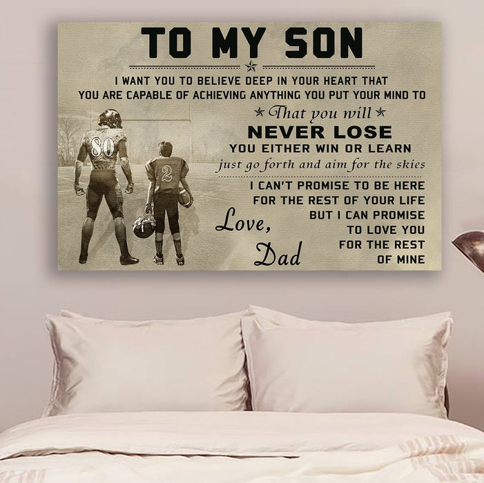American football Canvas and Poster ��� to my son wall decor visual art - GIFTCUSTOM