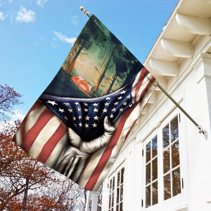 American US Camping Flag | Garden Flag | Double Sided House Flag - GIFTCUSTOM