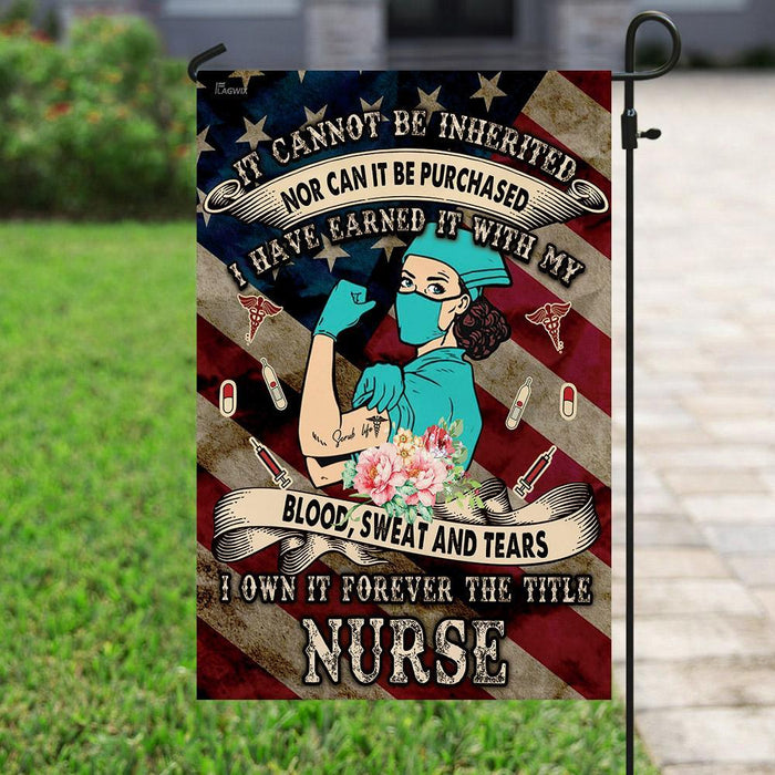 American US Nurse Flag | Garden Flag | Double Sided House Flag - GIFTCUSTOM