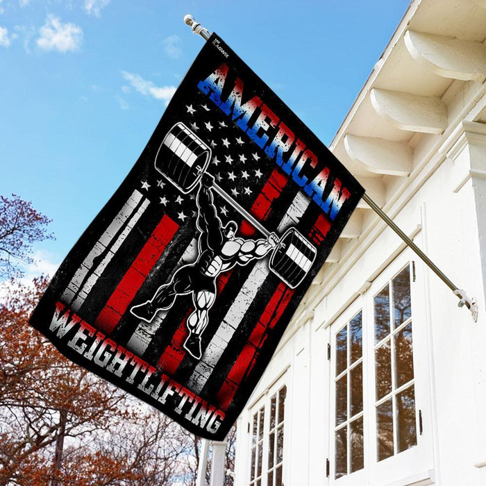 American Weightlifting Flag | Garden Flag | Double Sided House Flag - GIFTCUSTOM