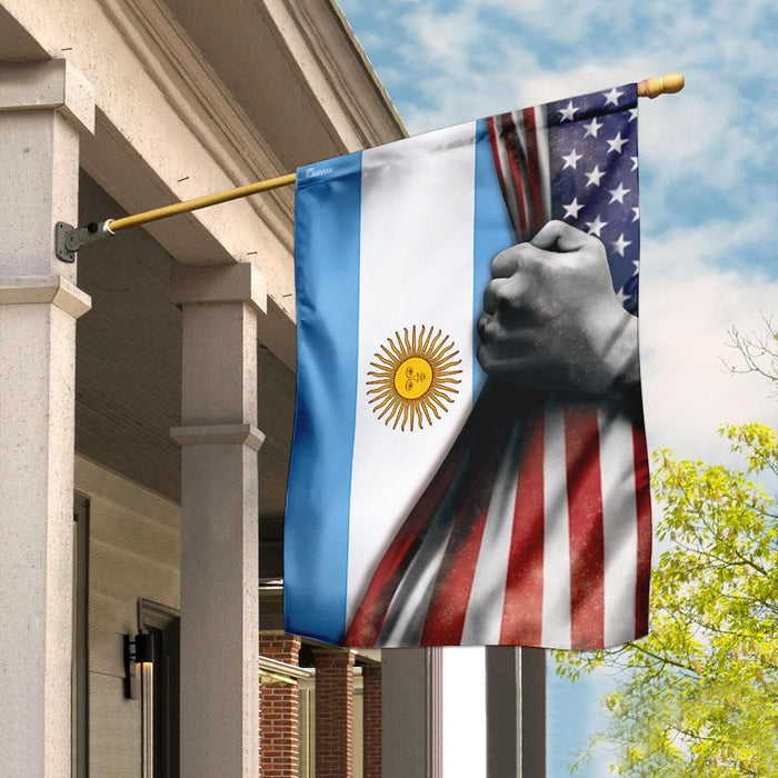 Argentina Vs American Flag | Garden Flag | Double Sided House Flag - GIFTCUSTOM