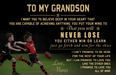 australia football Canvas and Poster ��� Nana to grandson ��� never lose fix wall decor visual art - GIFTCUSTOM