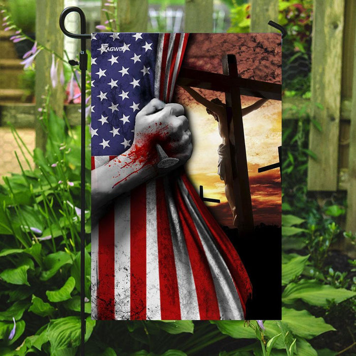 Jesus Is My Savior Flag v1