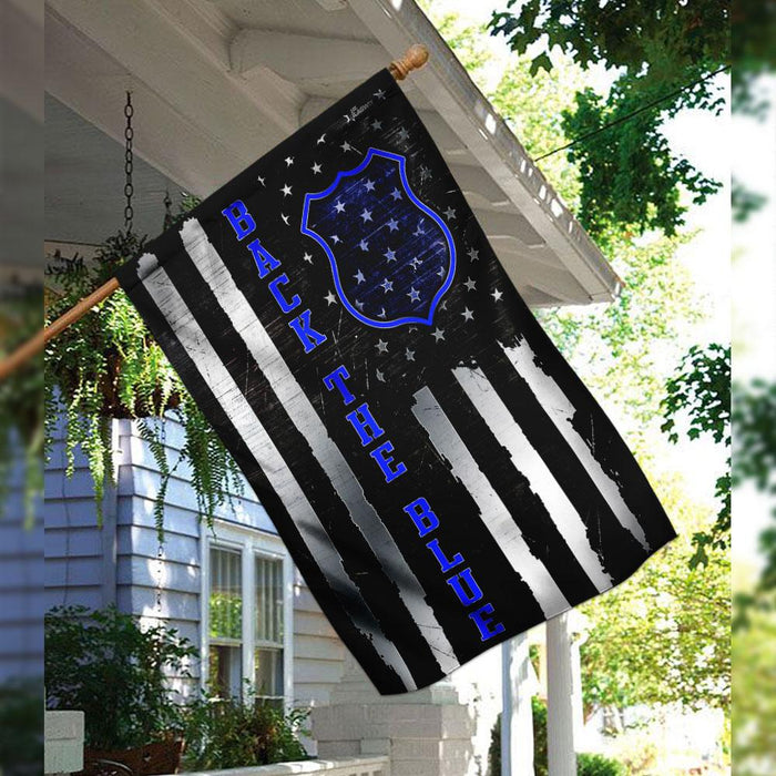 Back The Blue Flag | Garden Flag | Double Sided House Flag - GIFTCUSTOM