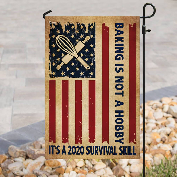 Baking American US Flag | Garden Flag | Double Sided House Flag - GIFTCUSTOM