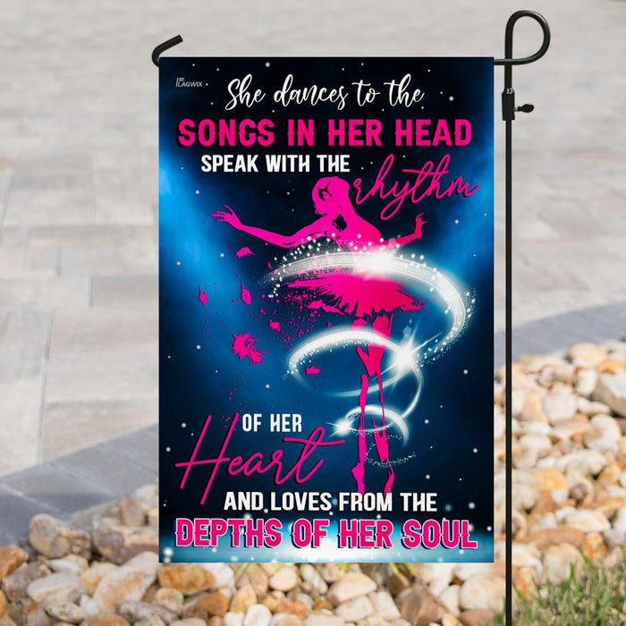 Ballet Dancer Flag | Garden Flag | Double Sided House Flag - GIFTCUSTOM