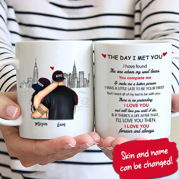Cute Couple, The Day I Met You Personalized Mug