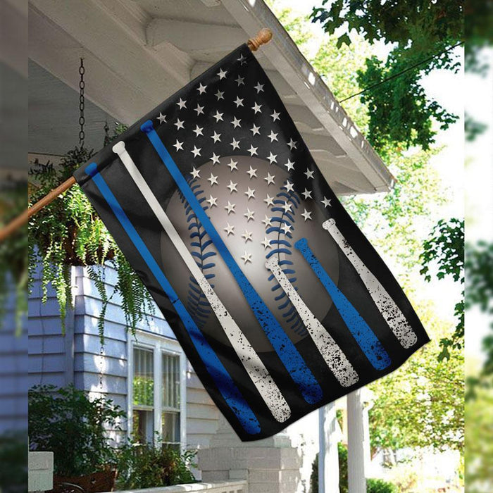 Baseball American Flag | Garden Flag | Double Sided House Flag - GIFTCUSTOM
