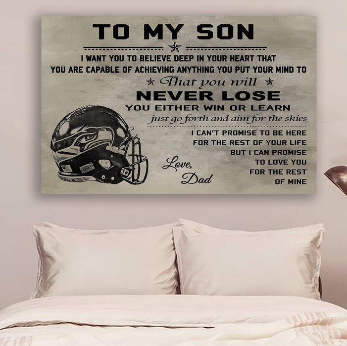 Baseball Canvas and Poster ��� Dad to son ��� Never lose wall decor visual art - GIFTCUSTOM