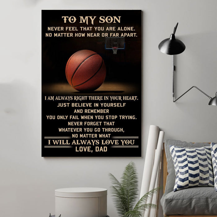 basketball Canvas and Poster ��� Dad to Son ��� never feel that wall decor visual art - GIFTCUSTOM