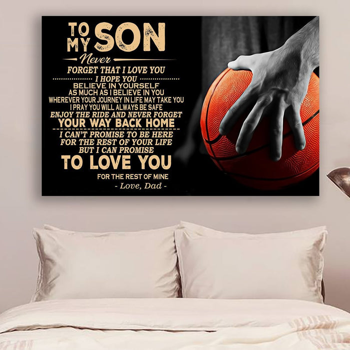 Basketball Canvas and Poster ��� Dad to son ��� Your way back home wall decor visual art - GIFTCUSTOM