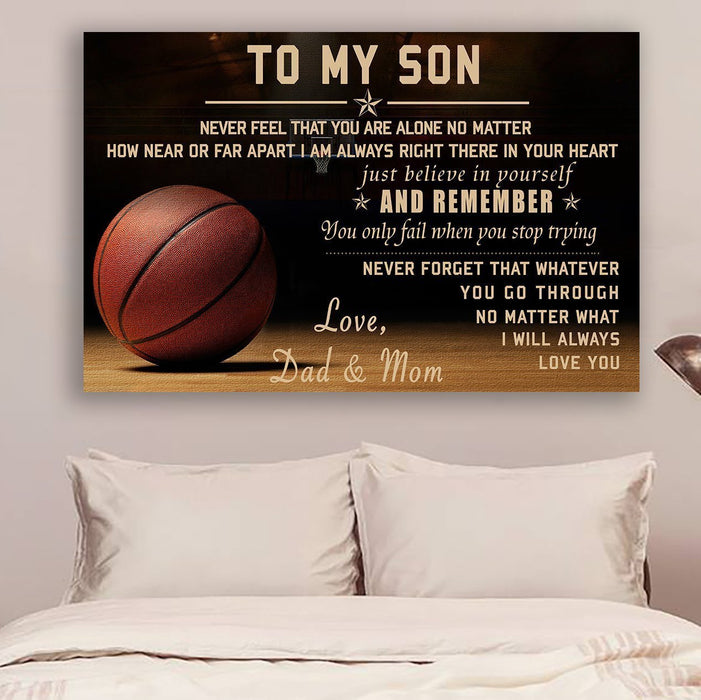 Basketball Canvas and Poster ��� Dad&Mom ��� never feel that wall decor visual art - GIFTCUSTOM