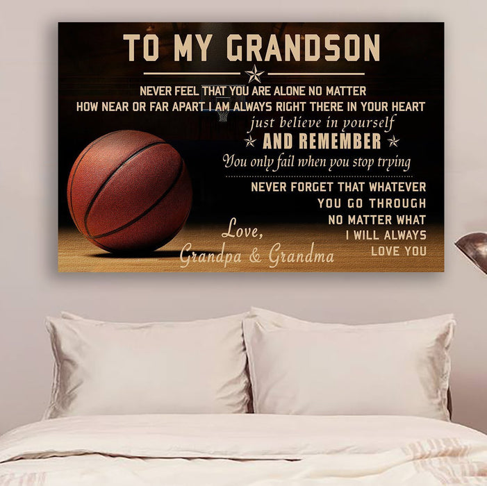 Basketball Canvas and Poster ��� Grandpa&grandma ��� never feel that wall decor visual art - GIFTCUSTOM