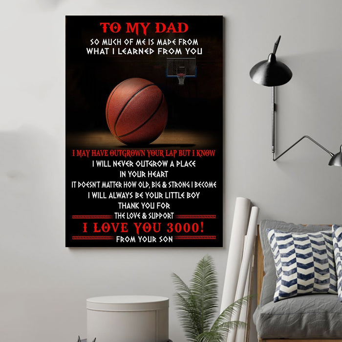 basketball Canvas and Poster ��� Son to Dad ��� so much of me wall decor visual art - GIFTCUSTOM