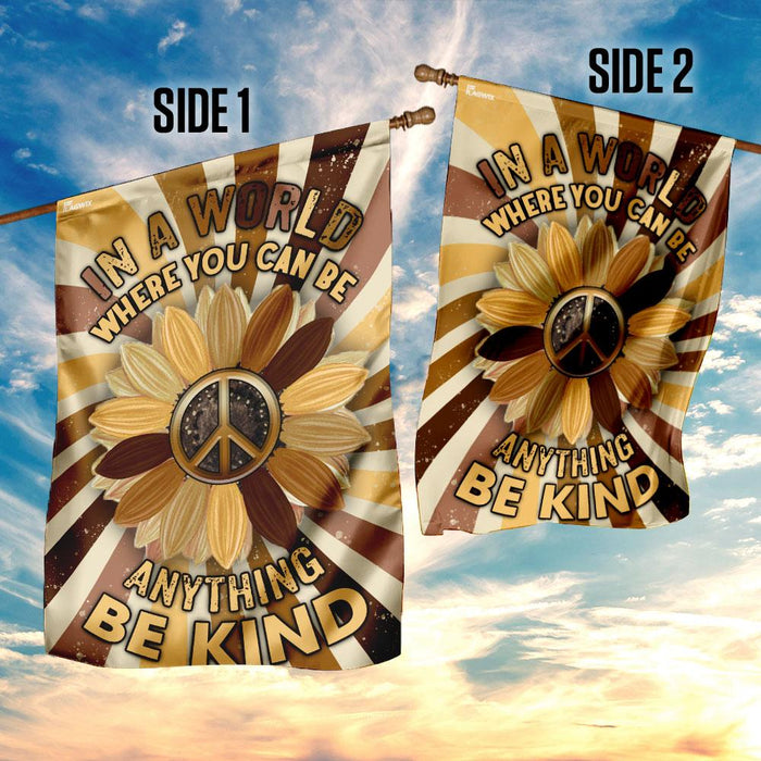 Be Kind Hippie Flag | Garden Flag | Double Sided House Flag - GIFTCUSTOM